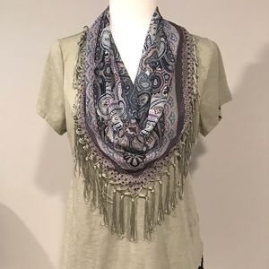 EUC light army green Top with Scarf! Size Medium